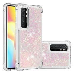 Dynamic Liquid Glitter Sand Quicksand TPU Case for Xiaomi Mi Note 10 Lite - Silver Powder Star