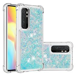 Dynamic Liquid Glitter Sand Quicksand TPU Case for Xiaomi Mi Note 10 Lite - Silver Blue Star