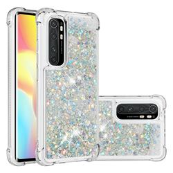 Dynamic Liquid Glitter Sand Quicksand Star TPU Case for Xiaomi Mi Note 10 Lite - Silver