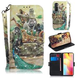 Beast Zoo 3D Painted Leather Wallet Phone Case for Xiaomi Mi Note 10 Lite