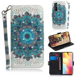 Peacock Mandala 3D Painted Leather Wallet Phone Case for Xiaomi Mi Note 10 Lite