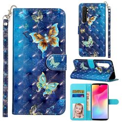 Rankine Butterfly 3D Leather Phone Holster Wallet Case for Xiaomi Mi Note 10 Lite