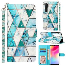 Stitching Marble 3D Leather Phone Holster Wallet Case for Xiaomi Mi Note 10 Lite