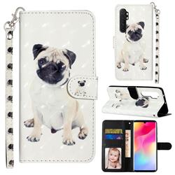 Pug Dog 3D Leather Phone Holster Wallet Case for Xiaomi Mi Note 10 Lite