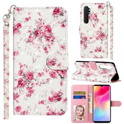 Rambler Rose Flower 3D Leather Phone Holster Wallet Case for Xiaomi Mi Note 10 Lite