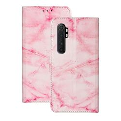Pink Marble PU Leather Wallet Case for Xiaomi Mi Note 10 Lite