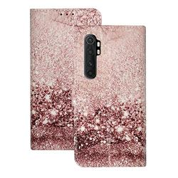 Glittering Rose Gold PU Leather Wallet Case for Xiaomi Mi Note 10 Lite