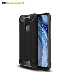 King Kong Armor Premium Shockproof Dual Layer Rugged Hard Cover for Xiaomi Redmi Note 9 - Black Gold