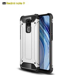 King Kong Armor Premium Shockproof Dual Layer Rugged Hard Cover for Xiaomi Redmi Note 9 - White