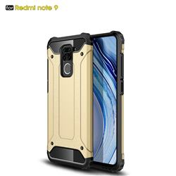 King Kong Armor Premium Shockproof Dual Layer Rugged Hard Cover for Xiaomi Redmi Note 9 - Champagne Gold