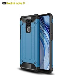 King Kong Armor Premium Shockproof Dual Layer Rugged Hard Cover for Xiaomi Redmi Note 9 - Sky Blue