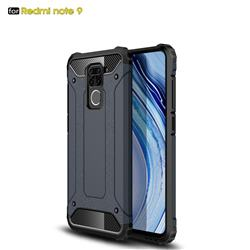King Kong Armor Premium Shockproof Dual Layer Rugged Hard Cover for Xiaomi Redmi Note 9 - Navy