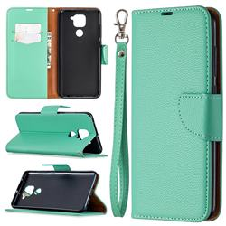 Classic Luxury Litchi Leather Phone Wallet Case for Xiaomi Redmi Note 9 - Green