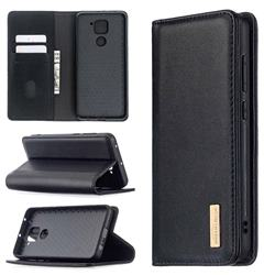 Binfen Color BF06 Luxury Classic Genuine Leather Detachable Magnet Holster Cover for Xiaomi Redmi Note 9 - Black