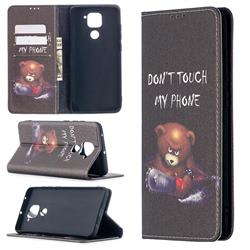 Chainsaw Bear Slim Magnetic Attraction Wallet Flip Cover for Xiaomi Redmi Note 9