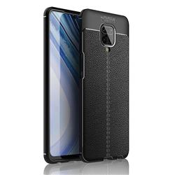 Luxury Auto Focus Litchi Texture Silicone TPU Back Cover for Xiaomi Redmi Note 9s / Note9 Pro / Note 9 Pro Max - Black