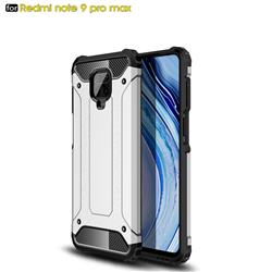 King Kong Armor Premium Shockproof Dual Layer Rugged Hard Cover for Xiaomi Redmi Note 9s / Note9 Pro / Note 9 Pro Max - White
