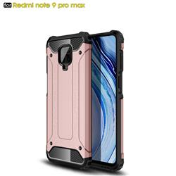 King Kong Armor Premium Shockproof Dual Layer Rugged Hard Cover for Xiaomi Redmi Note 9s / Note9 Pro / Note 9 Pro Max - Rose Gold