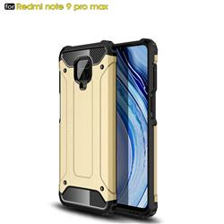 King Kong Armor Premium Shockproof Dual Layer Rugged Hard Cover for Xiaomi Redmi Note 9s / Note9 Pro / Note 9 Pro Max - Champagne Gold