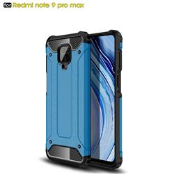 King Kong Armor Premium Shockproof Dual Layer Rugged Hard Cover for Xiaomi Redmi Note 9s / Note9 Pro / Note 9 Pro Max - Sky Blue