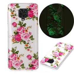 Peony Noctilucent Soft TPU Back Cover for Xiaomi Redmi Note 9s / Note9 Pro / Note 9 Pro Max