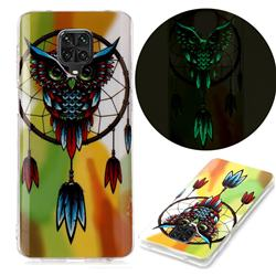 Owl Wind Chimes Noctilucent Soft TPU Back Cover for Xiaomi Redmi Note 9s / Note9 Pro / Note 9 Pro Max