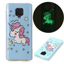 Stars Unicorn Noctilucent Soft TPU Back Cover for Xiaomi Redmi Note 9s / Note9 Pro / Note 9 Pro Max
