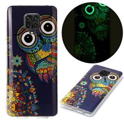 Tribe Owl Noctilucent Soft TPU Back Cover for Xiaomi Redmi Note 9s / Note9 Pro / Note 9 Pro Max
