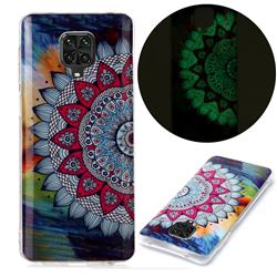 Colorful Sun Flower Noctilucent Soft TPU Back Cover for Xiaomi Redmi Note 9s / Note9 Pro / Note 9 Pro Max