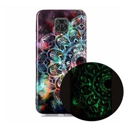 Datura Flowers Noctilucent Soft TPU Back Cover for Xiaomi Redmi Note 9s / Note9 Pro / Note 9 Pro Max