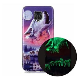 Wolf Howling Noctilucent Soft TPU Back Cover for Xiaomi Redmi Note 9s / Note9 Pro / Note 9 Pro Max