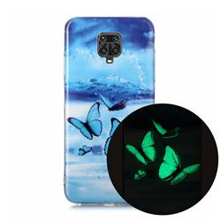 Flying Butterflies Noctilucent Soft TPU Back Cover for Xiaomi Redmi Note 9s / Note9 Pro / Note 9 Pro Max