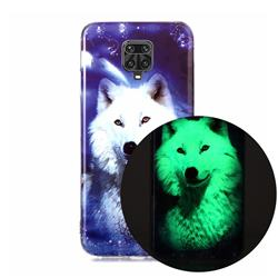 Galaxy Wolf Noctilucent Soft TPU Back Cover for Xiaomi Redmi Note 9s / Note9 Pro / Note 9 Pro Max