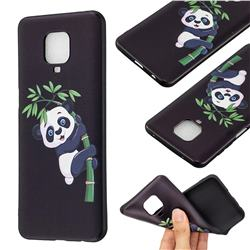 Bamboo Panda 3D Embossed Relief Black Soft Back Cover for Xiaomi Redmi Note 9s / Note9 Pro / Note 9 Pro Max