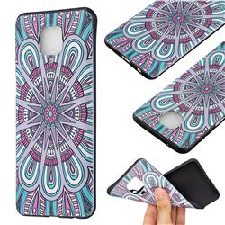 Mandala 3D Embossed Relief Black Soft Back Cover for Xiaomi Redmi Note 9s / Note9 Pro / Note 9 Pro Max