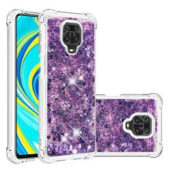 Dynamic Liquid Glitter Sand Quicksand Star TPU Case for Xiaomi Redmi Note 9s / Note9 Pro / Note 9 Pro Max - Purple