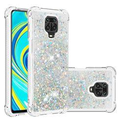 Dynamic Liquid Glitter Sand Quicksand Star TPU Case for Xiaomi Redmi Note 9s / Note9 Pro / Note 9 Pro Max - Silver