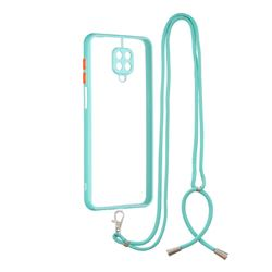 Necklace Cross-body Lanyard Strap Cord Phone Case Cover for Xiaomi Redmi Note 9s / Note9 Pro / Note 9 Pro Max - Blue