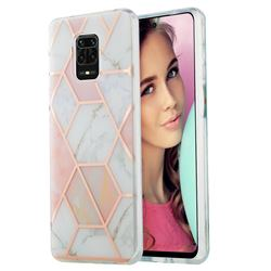 Pink White Marble Pattern Galvanized Electroplating Protective Case Cover for Xiaomi Redmi Note 9s / Note9 Pro / Note 9 Pro Max