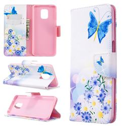 Butterflies Flowers Leather Wallet Case for Xiaomi Redmi Note 9s / Note9 Pro / Note 9 Pro Max