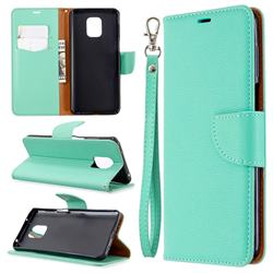 Classic Luxury Litchi Leather Phone Wallet Case for Xiaomi Redmi Note 9s / Note9 Pro / Note 9 Pro Max - Green