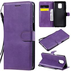 Retro Greek Classic Smooth PU Leather Wallet Phone Case for Xiaomi Redmi Note 9s / Note9 Pro / Note 9 Pro Max - Purple