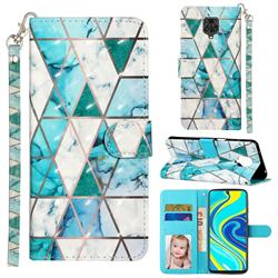 Stitching Marble 3D Leather Phone Holster Wallet Case for Xiaomi Redmi Note 9s / Note9 Pro / Note 9 Pro Max