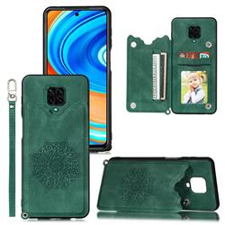 Luxury Mandala Multi-function Magnetic Card Slots Stand Leather Back Cover for Xiaomi Redmi Note 9s / Note9 Pro / Note 9 Pro Max - Green