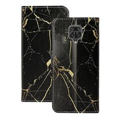 Black Gold Marble PU Leather Wallet Case for Xiaomi Redmi Note 9s / Note9 Pro / Note 9 Pro Max