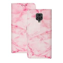 Pink Marble PU Leather Wallet Case for Xiaomi Redmi Note 9s / Note9 Pro / Note 9 Pro Max