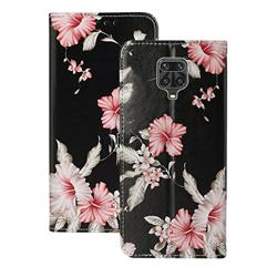 Azalea Flower PU Leather Wallet Case for Xiaomi Redmi Note 9s / Note9 Pro / Note 9 Pro Max