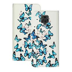 Blue Vivid Butterflies PU Leather Wallet Case for Xiaomi Redmi Note 9s / Note9 Pro / Note 9 Pro Max