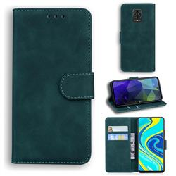 Retro Classic Skin Feel Leather Wallet Phone Case for Xiaomi Redmi Note 9s / Note9 Pro / Note 9 Pro Max - Green