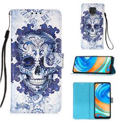Cloud Kito 3D Painted Leather Wallet Case for Xiaomi Redmi Note 9s / Note9 Pro / Note 9 Pro Max